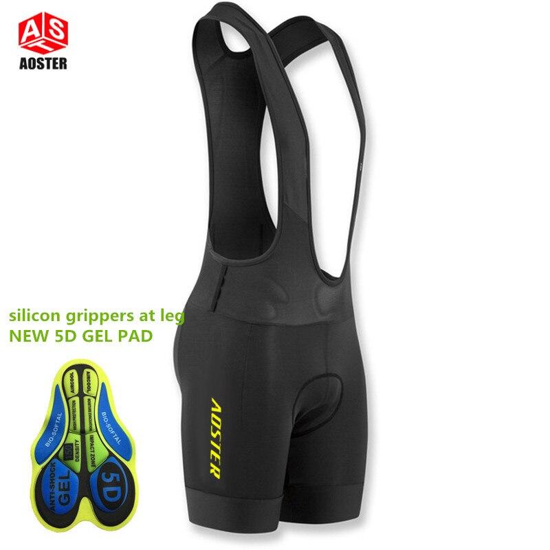 Prix pour 2017 AOSTER PRO ÉQUIPE profession Course Cyclisme bib shorts léger bib pantalon 5D Lycra et Haute-densité Pad pour longtemps tour