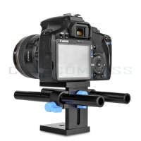 15mm Rail Rod Support System Baseplate Mount For DSLR Follow Focus Rig 5D2 5D3