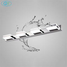L16/35/50/68cm Mirror light led bathroom wall lamp modern chrome cabinet iluminacion led vanidad passpiegels luz de espejo luces