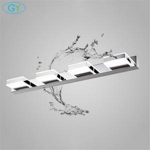 Image 1 - L16/35/50/68cm Mirror light led bathroom wall lamp modern chrome cabinet iluminacion led vanidad passpiegels luz de espejo luces