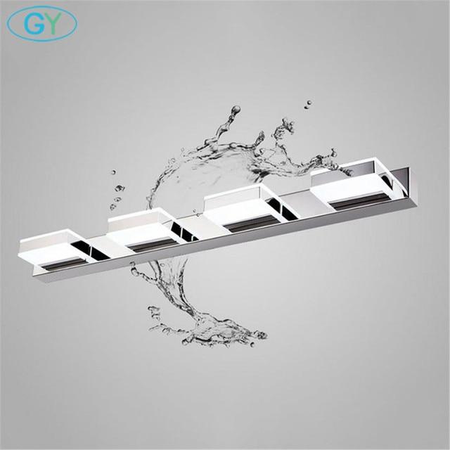 L16/35/50/68cm Mirror light led bathroom wall lamp modern chrome cabinet iluminacion led vanidad passpiegels luz de espejo luces