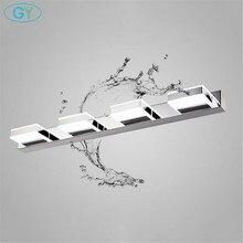 L16/35/50/68cm espelho luz led banheiro lâmpada de parede moderna armário cromo iluminacion led vanidad passpiegels luz luces