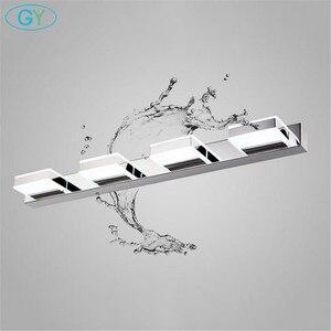 Image 1 - L16/35/50/68cm espelho luz led banheiro lâmpada de parede moderna armário cromo iluminacion led vanidad passpiegels luz luces