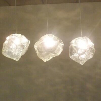 ФОТО 1 Light Irregular glass artistic led pendant light,For restaurant bar aisles vestibule,Home pendant lamp G4 Bulb Included