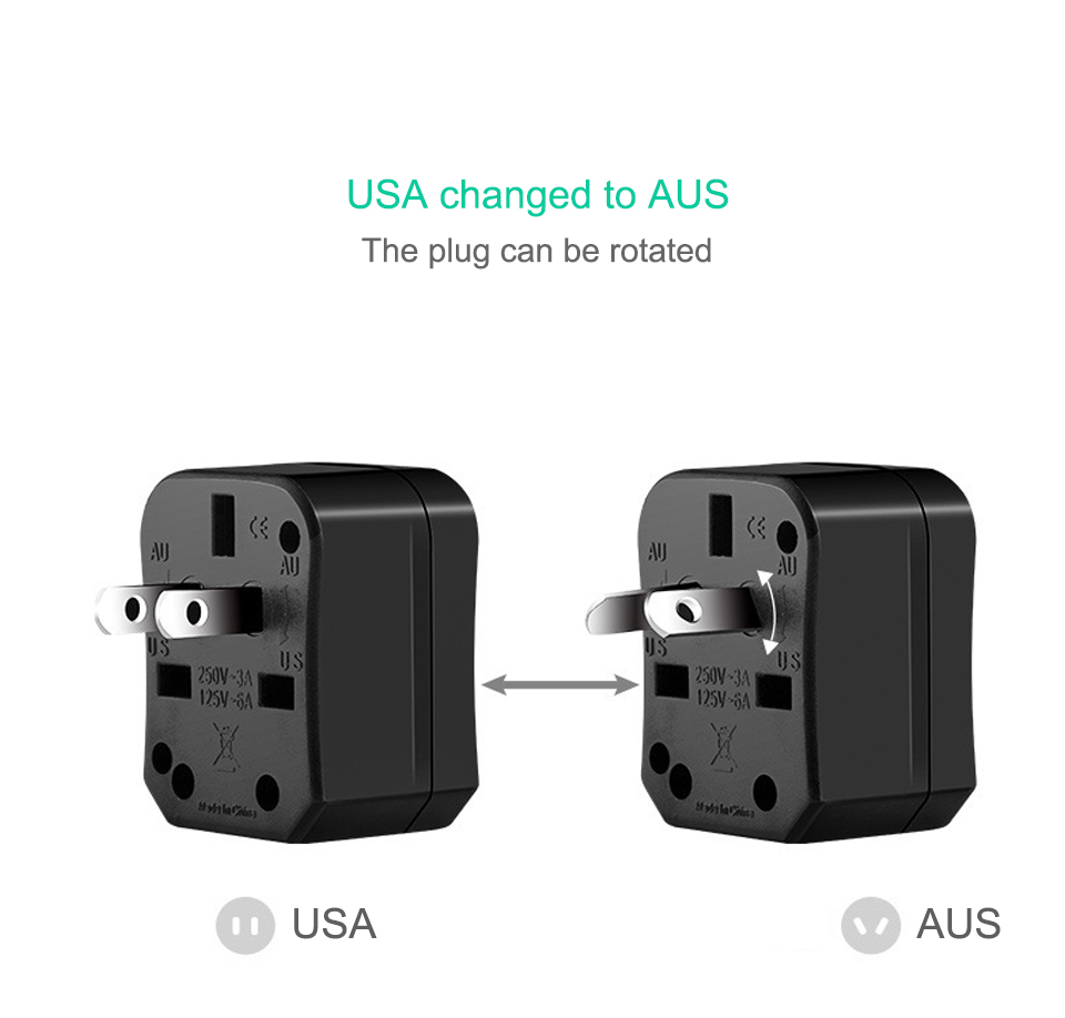Three-in-one Global Travel Conversion 3 Sockets Plugs Universal Adapter Travel Abroad Converter Household Plugs USAUEUUK (11)