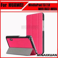 New Paint Slim Magnetic Case For Huawei MediaPad T3 7 0 Wifi BG2 W09 Smart Cover