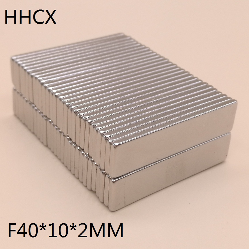 50pcs/lot magnet 40x10x2 mm N38 Strong Square NdFeB Rare Earth Magnet 40*10*2 mm Neodymium Magnets 40mm x 10mm x 2mm-in Magnetic Materials from Home Improvement