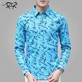 Осенние Фантазии Рубашки Мужские Гавайских Рубашках С Длинным Рукавом Хлопок Мужчины Случайные мужская Белая Рубашка Плюс Размер 5XL Camisa Masculina Homme