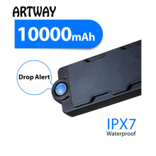 hot deal buy artway tk10 10000mah big battery strong magnet power bank gps tracker for  vehicle assets boat anti theft drop alarm tracker