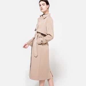 Image 3 - HDY Haoduoyi 2020 automne nouvelle haute couture marque femmes classique Double boutonnage imperméable Trench manteau imperméable affaires vêtements dextérieur