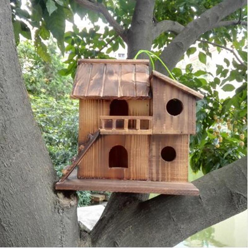 Wooden Birds Nest [25 cm * 25 cm * 16 cm]