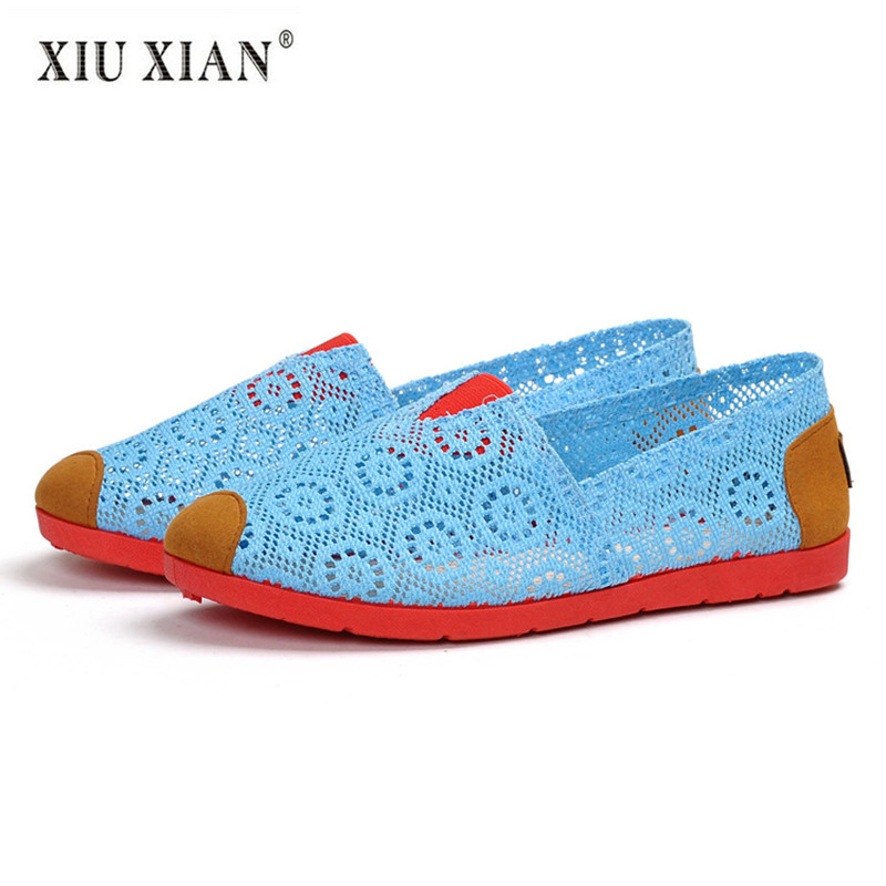 2018 Summer New Top Quality Hollow Mesh Cloth Women Flats Sandals Shallow Flexible Fashion Mother Shoes Non-leather Casual Shoes xq new breathable cloth shoes fashion women hollow out summer casual shoe air mesh flat shoes sandals non slip ladies shoes s102