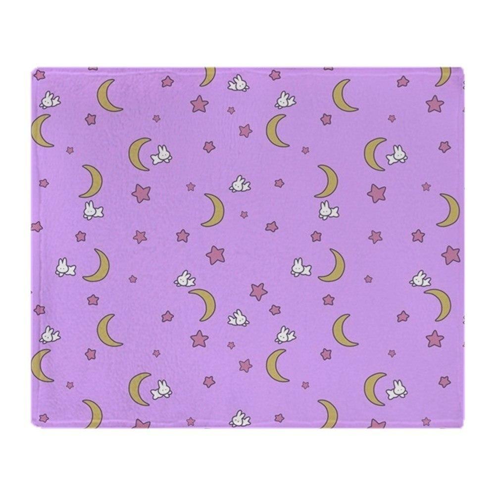 Sailor Moon Blanket Bedspread Moon Bunnies Design Soft Fleece Throw Blanket Air/Sofa/Bedding Soft Winter Bedsheet