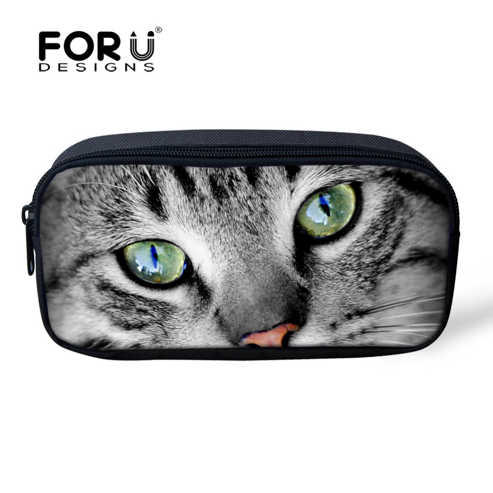 Cute 3D Animal Cat Cosmetic Bags Small Ps
