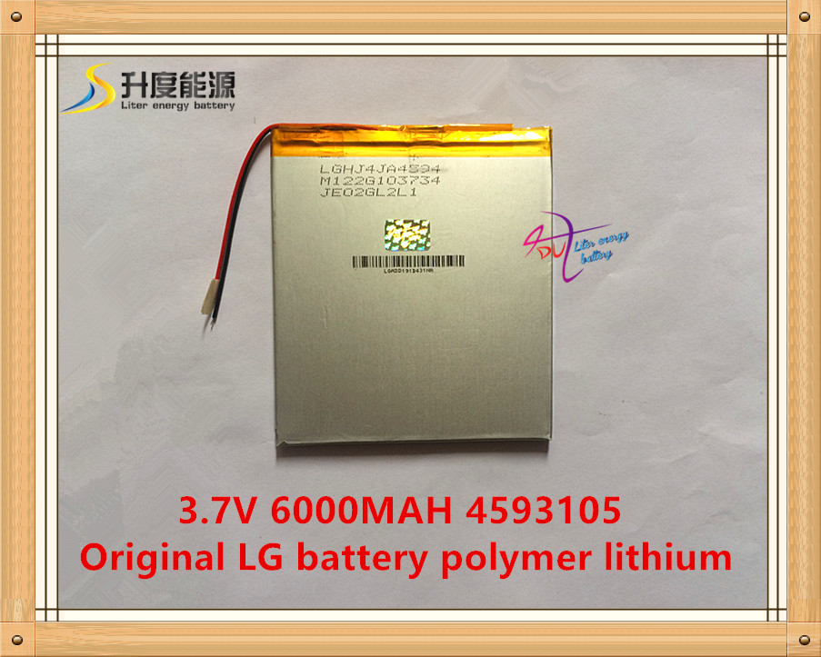 4593105 <font><b>3.7V</b></font> <font><b>6000mah</b></font> Lithium polymer <font><b>Battery</b></font> with Protection Board <font><b>For</b></font> <font><b>Tablet</b></font> V971VI30 P88 Vido N88 U35GT image