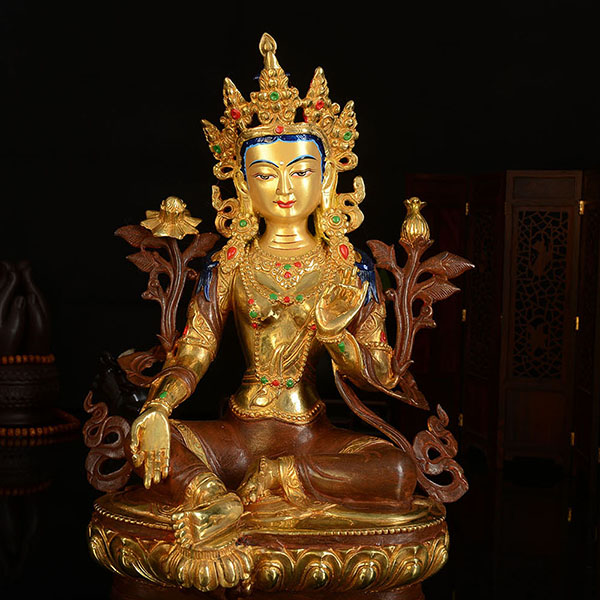 32 CM tall # HOME OFFICE Talisman efficacious House Protection -Buddhism Bodhisattva Tara(Green) buddha Gilding bronze statue32 CM tall # HOME OFFICE Talisman efficacious House Protection -Buddhism Bodhisattva Tara(Green) buddha Gilding bronze statue