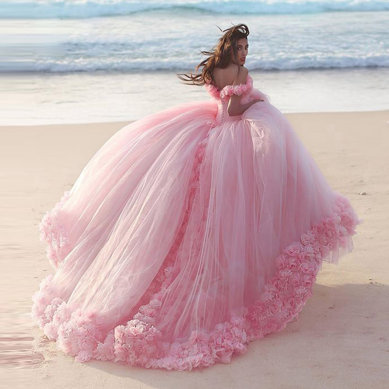Платье для свадьбы с цветами, розовое, на шнурках, с вырезом лодочкой, на заказ, 2019