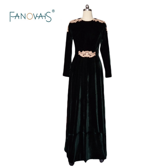Aliexpress.com : Buy Women Velvet Long Sleeve Maxi Floor Length Gown ...