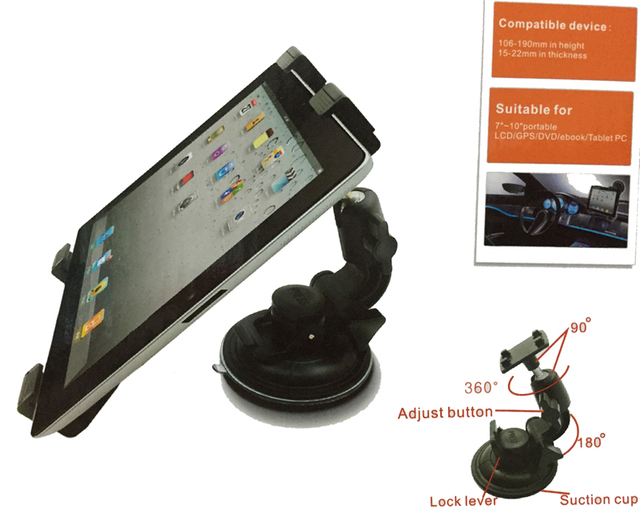 Alta Qualidade Car Cradle Suporte Ventosa Suporte para iPad Air 2 Pro Mini 4 3 Samsung N8000 P5100 Tablet PC DVD GPS Titular # PBJ