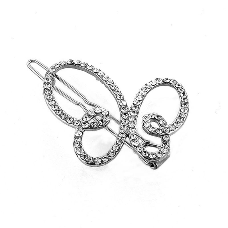 Retro Luxury Glitter Rhinestone Hair Clip Ladies Bridal Geometric Hollow Floral Bowknot Shape Hairpin Metallic Styling Barrette in Women 39 s Hair Accessories from Apparel Accessories
