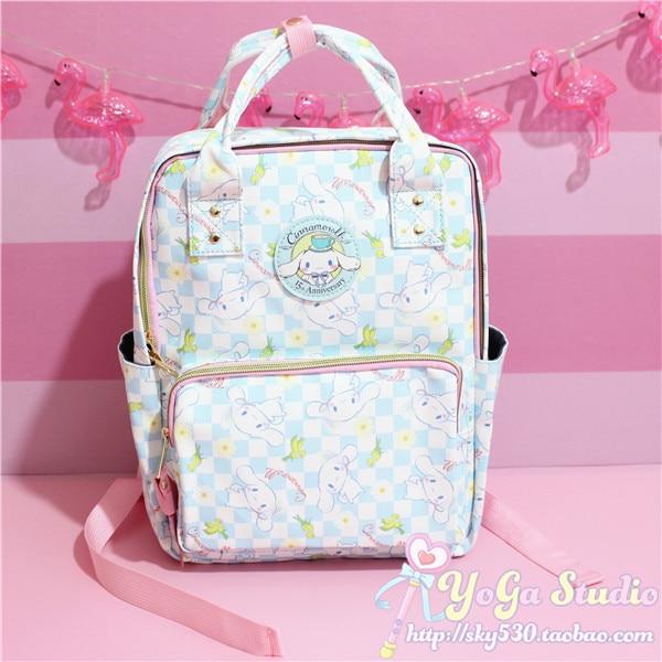 775793b28 Cartoon Cute Genuine Cinnamoroll Dog Backpack Schoolbag Primary School Bags  Teenage Girls Female School Shoulder Bag Travel Bag-in Backpacks from  Luggage & ...