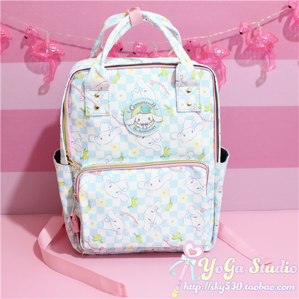 Cartoon Cute Genuine Cinnamoroll Dog Backpack Schoolbag Primary School Bags Teenage Girls Female School Shoulder Bag Travel Bag