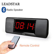 LEADSTAR Remote Control Bluetooth Speaker FM Radio Handfree Deep Bass Wireless Speaker with LED Display Mic TF card USB Player(China)