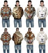 Зверь лев дикий браун leopard скейтбординг тигр любителей пуловер толстовка толстовки