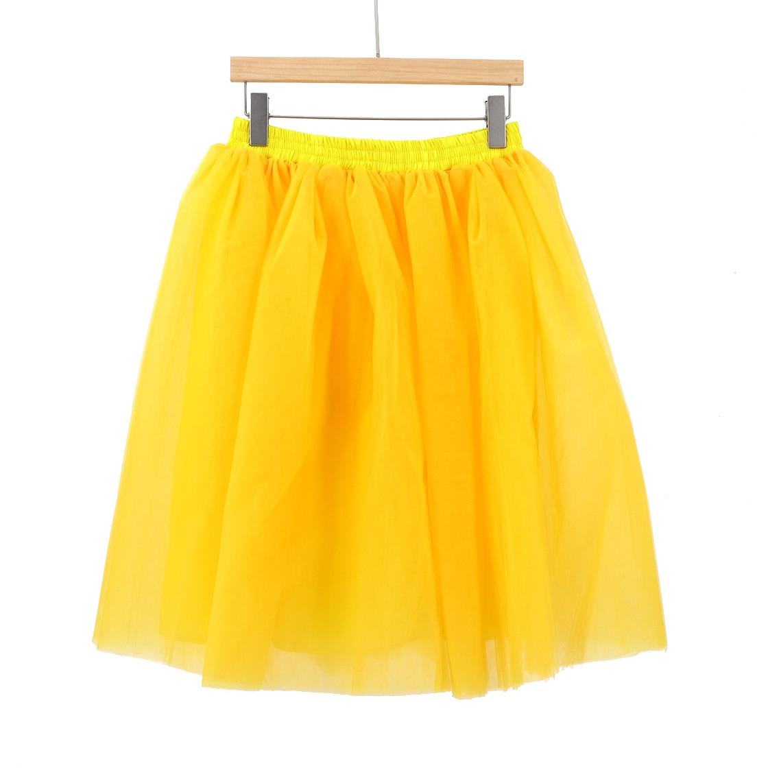 19cf0353d2 7 Layers 60cm Tutu Tulle Skirt Vintage Midi Pleated Skirts Yellow Womens  Lolita Bridesmaid Wedding faldas Mujer saias jupe-in Skirts from Women's  Clothing ...