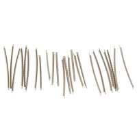 Chrome 100 Stainless Steel 2 7mm Acoustic Electric Guitar 24 Fret Wire Set