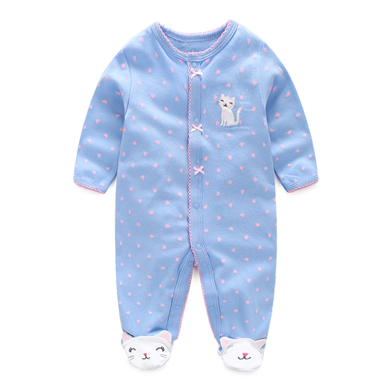 0-12 months cat Baby girl clothes Infant cartoon footies for boys girls jumpsuit Clothing animal newborn clothes baby onesie newborn baby girl clothes footies lucky child cotton cartoon printing infant clothing 1pcs 0 12 months