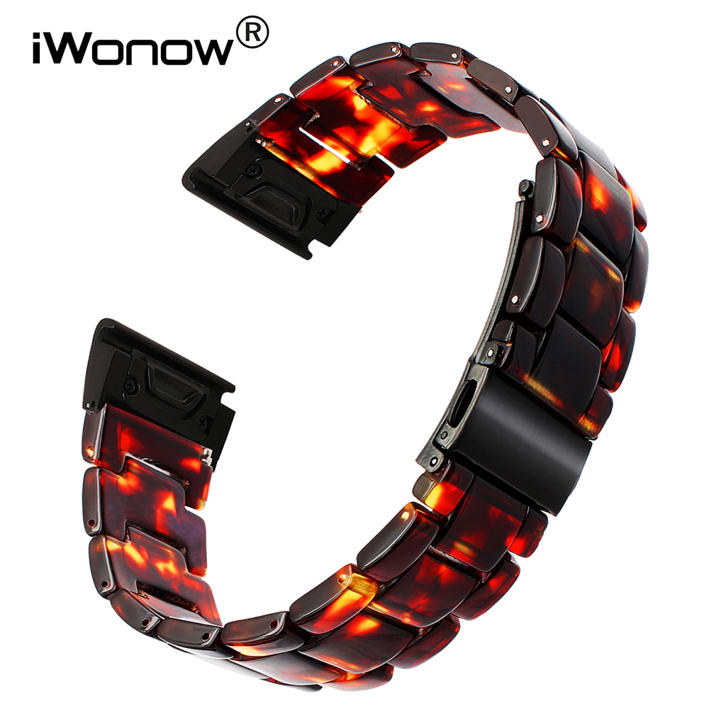 Quick Easy Fit Resin Watchband 22mm for Garmin Fenix 5/Forerunner 935/Approach S60 Steel Clasp Watch Band Sport Strap Wristband 22mm watch band accessories stainless steel quick fit release watch bands straps for garmin forerunner 935 fenix 5