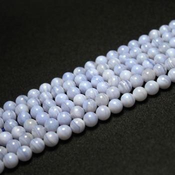 be58e3654f6a Natural 4 6 8 10mm redondo piedra suelta perlas hilo Semi-preciosa gema  piedra DIY fabricación de joyas
