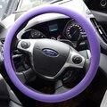 AUTO tampa da roda de direcção Do Carro VOLANTE Tampa Da Pele Textura De Couro Macio QUENTE roxo