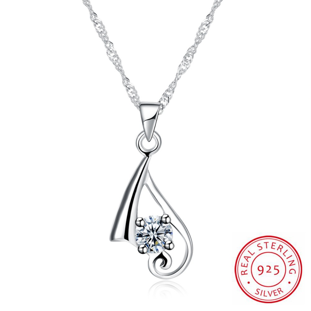New Arrival Europe Style Girl Gift 925 Sterling Silver Necklace Women Cadenas De Plata 925 Mujer Silver Chains For Women CharmNew Arrival Europe Style Girl Gift 925 Sterling Silver Necklace Women Cadenas De Plata 925 Mujer Silver Chains For Women Charm