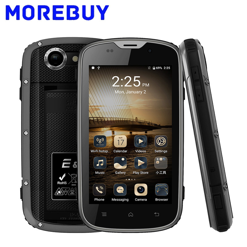 E L W5 Mobile Phone IP68 Waterproof Shockproof MTK6735M Android6 0 Quad Core Smartphone 1GB RAM
