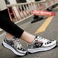 2017 primavera nuevas sandalias de Cuña zapatos de Las Mujeres Al Aire Libre zapatos Que Caminan ocasionales de Corea de LA PU transpirable zapatos de moda zapatos mujer bromista de la manera
