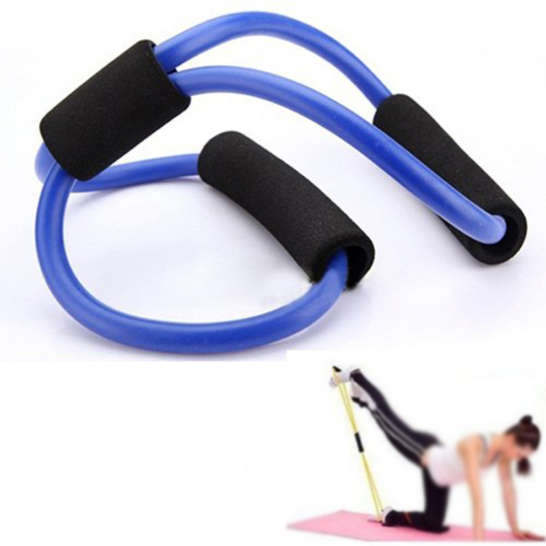 Yoga Resistance Bands Tube Stretch Fitness Pilates Exercise Tool