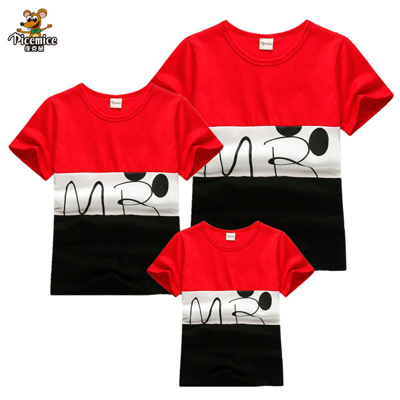 2019 New Family Look Striped T Shirts 2 Colors Summer Family