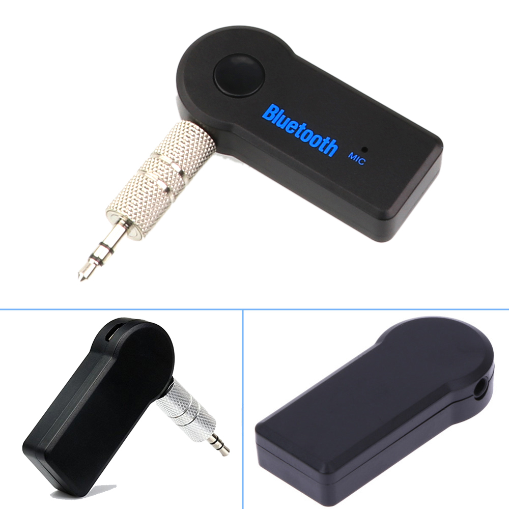 Handsfree Bil Bil Bluetooth Bluetooth Kit Bärbar Trådlös Bluetooth-mottagare AUX Adapter 3,5 mm Jack Bluetooth Audio för bilar