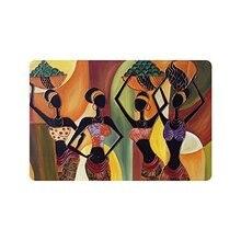 CHARMHOME картина маслом Искусство Африканская женщина машина-моющийся коврик забавные ковры ванная комната Ковер