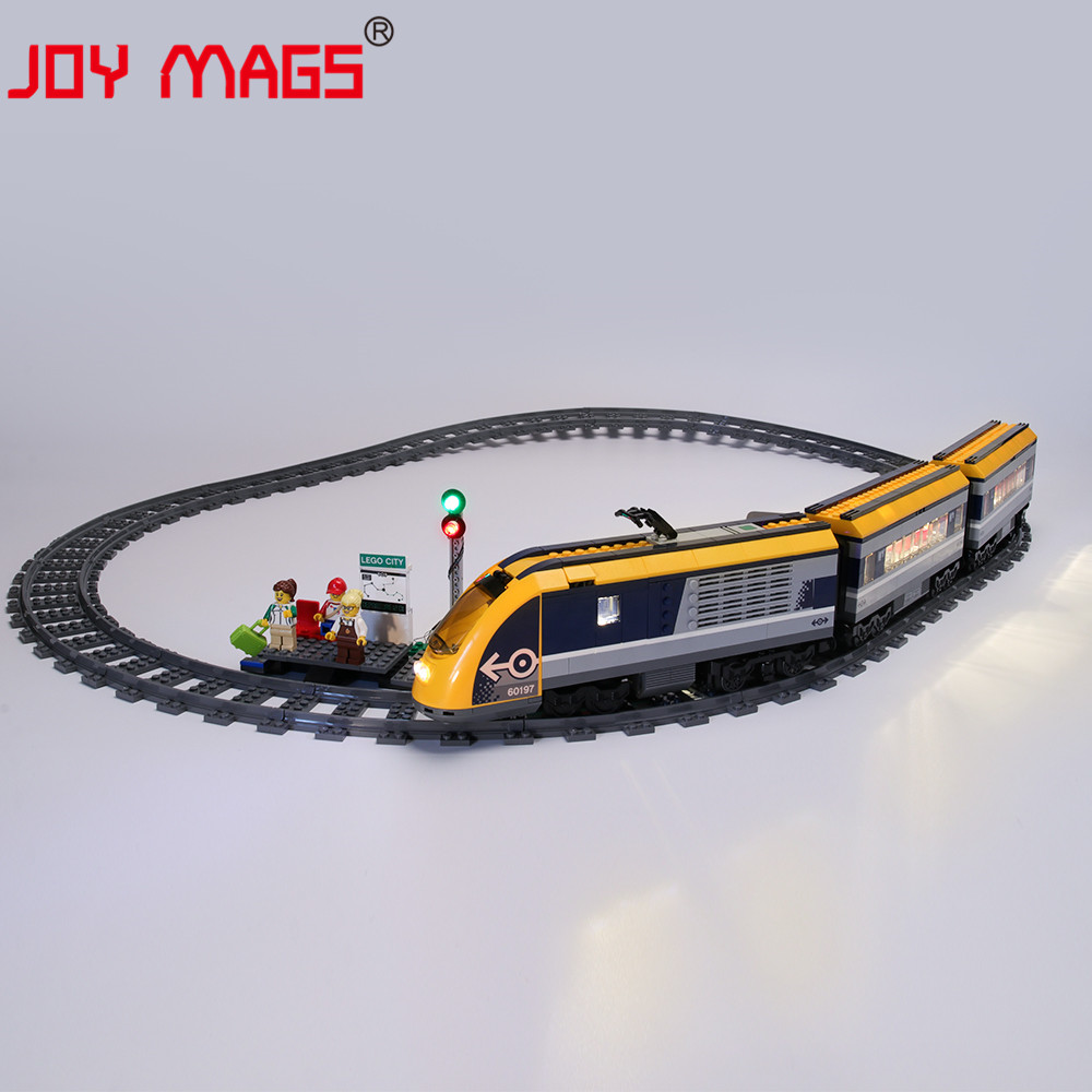 JOY MAGS Only Led Light Kit For <font><b>60197</b></font> City Series Passenger Train Lighting Set Compatible With 02117 11001 (NOT Include Model) image