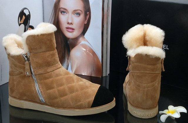 Europe and the United States warm Female Short Boots Top thick sheep fur in vivo in fashion boots