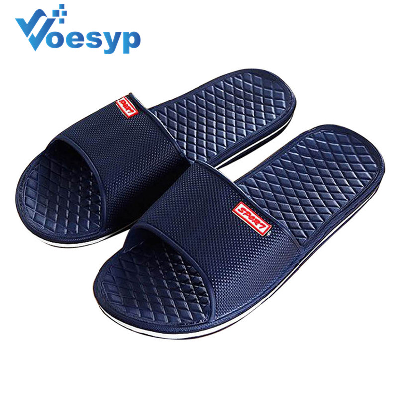 Men Shoes Home Slippers Footwear Fashion Male Water Slides Outdoor Rubber Flat Mens Sandals Beach Shoe Flip Flops