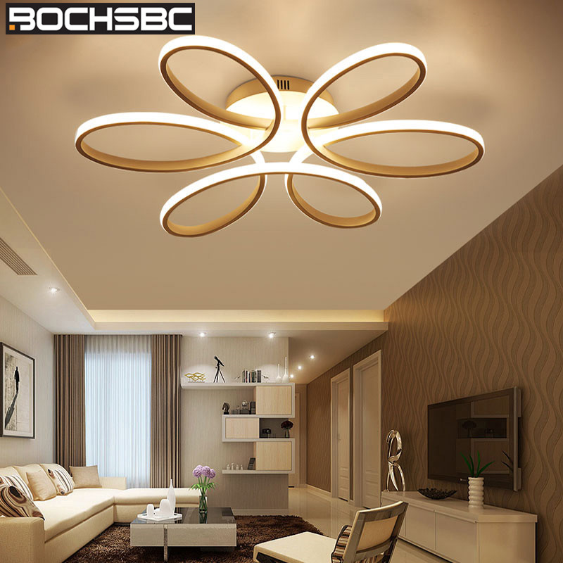 BOCHSBC Flower Design Ceiling Lamp Modern Lighting Fixture for Living Room Bedroom Dining Room Bar Lamp
