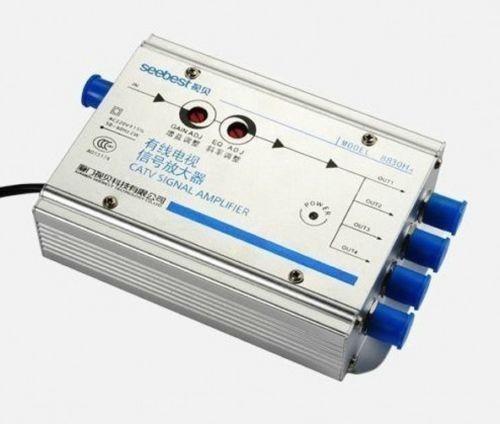 Регулируемый кабель 30 дБ, Усилитель ТВ сигнала 45 860 МГц 2 Вт, 1 в 4 выхода, усилитель тв