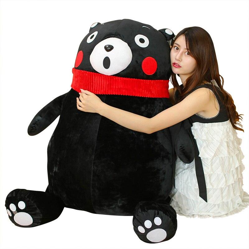 Fancytrader énorme grand 150 cm japon Anime mascotte Kumamon jouet géant en peluche peluche doux dessin animé noir ours poupée cadeaux de noël