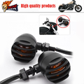 3 wires Motorcycle Universal Retro Bullet Turning signals Blinker Light Indicator Lamp Amber Bulb