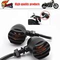 3 wires Motorcycle Universal Retro Bullet Turning signals Blinker Light Indicator Lamp Amber Bulb
