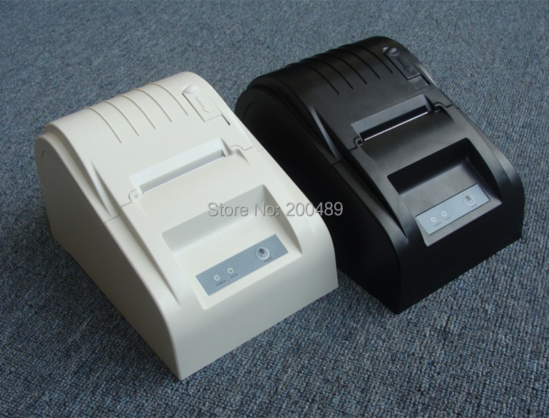 High speed black USB Port 58mm 5890T thermal Receipt printer POS printer mini thermal printer new packing new hot thermal printer 5890t supermarket takeaway intelligent bluetooth food and beverage printer 90mm s 57 5 0 5mm 220v